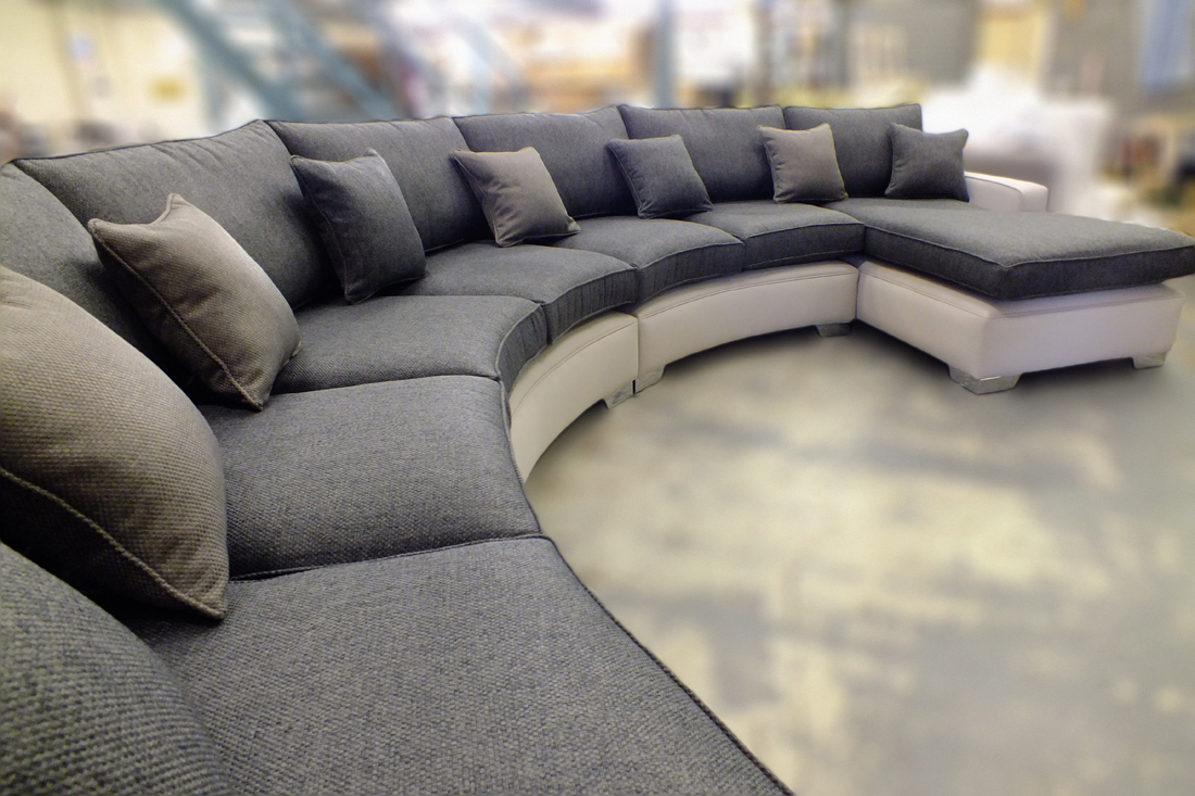 Extra Large Curved Sofa | Bespoke sofa Bespoke Furniture ...