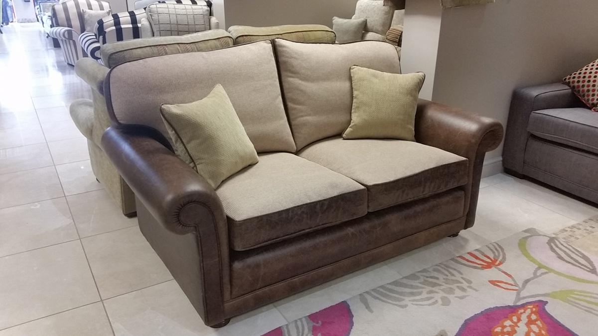 Francis Leather Sofa Ex Display Furniture Sale The